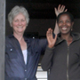 Judy and Fine at Le Petite Sanctuaire, Gisenyi